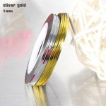 Metallic Chrome Striping Tape 1 mm Gold Silver