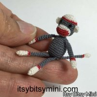 Dollhouse Miniature Sock Monkey