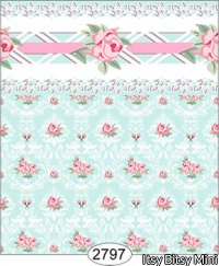 Wallpaper - Daniella Floral Damask - Blue
