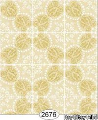 Wallpaper Rose Hill Tile Yellow