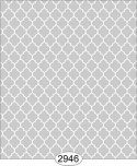 Wallpaper Geometric Trellis Reverse Grey