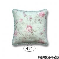 Pillow - Emma - Rose - Green - Square
