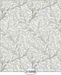 Jolie Willow Gray Wallpaper No Border