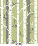 Wallpaper Birch Tree Green Spring