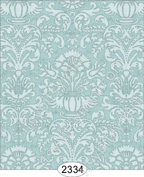Wallpaper - Annabelle Damask Blue Opal - Click Image to Close