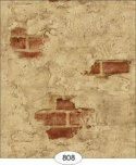 Wallpaper - Weathered Plaster - Red