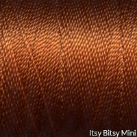 Tiny Twisted Cord - Orange Copper Spice