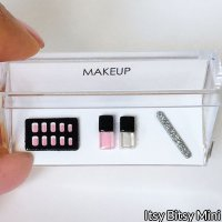 Dollhouse Miniature Makeup Cosmetic French Manicure Set