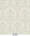 Wallpaper - Annabelle Mini Reverse Damask Yellow Ivory