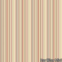 Wallpaper - Hannah's Jacobean Red - Stripe NO BORDER