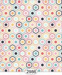 Wallpaper Retro Hex Tiles Multicolor