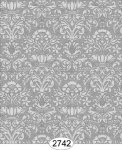 Wallpaper - Annabelle Mini Damask Black