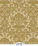 Wallpaper - Annabelle Reverse Damask Brown Mustard