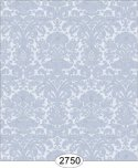 Wallpaper - Annabelle Mini Reverse Damask Blue Serenity