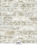 Wallpaper - Distressed Brick - White