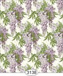 Jolie Purple Wisteria Floral Dollhouse Wallpaper