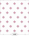Wallpaper - Princess - Fleur de Lis - Pink on White