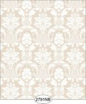 Wallpaper - Daniella Damask - Beige No Border