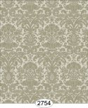 Wallpaper - Annabelle Mini Reverse Damask Green Khaki