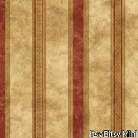Wallpaper - Medallion Burgundy - Stripe NO BORDER