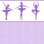 Wallpaper - Ballerina Silhouette Purple - Check