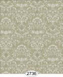 Wallpaper - Annabelle Mini Damask Green Khaki