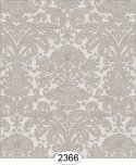 Wallpaper - Annabelle Reverse Damask Grey Silver