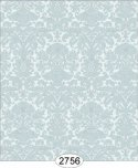 Wallpaper - Annabelle Mini Reverse Damask Blue Opal