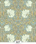 Wallpaper - Victorian Tulips - Blue