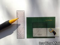 Dollhouse Miniature Quilt / Sew Rulers & Cutting Pad