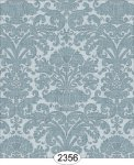 Wallpaper - Annabelle Reverse Damask Blue Tourmaline