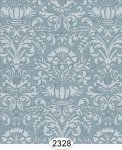 Wallpaper - Annabelle Damask Blue Tourmaline