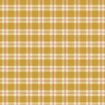 Wallpaper - Bird Red on Gold Plaid