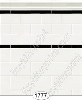 Wallpaper - Subway Tile - Antique White - Click Image to Close