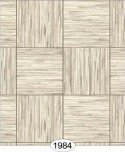 Wallpaper - Grasscloth Parquet Tile - Grey