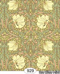 Wallpaper - Victorian Tulips - Green