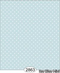 Wallpaper - Cottage Chic - Dot 2 Blue