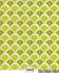 Wallpaper - Victorian Scallop - Lime Green