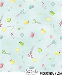 Wallpaper Sew Perfect Notions Blue No Border
