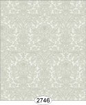Wallpaper - Annabelle Mini Reverse Damask Green Olive