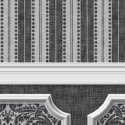 Wallpaper - Annabelle Wainscot Mural Black