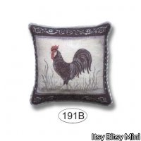 Pillow - French Kitchen Chicken - Black