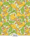 Wallpaper - Victorian Leaves 2 - Green and Yellow