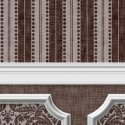 Wallpaper - Annabelle Wainscot Mural Brown Chocolate