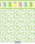 Wallpaper Sew Perfect Pins Green