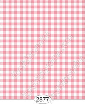 Wallpaper - Tea for Two - Check Pink Dark - Click Image to Close