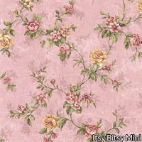 Fabric - Rustic Rose 2 - Pink Floral