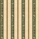 Wallpaper - French Kitchen - Green Stripe NO BORDER