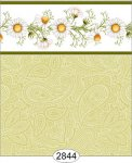 Wallpaper - Daisy Green Border - Paisley