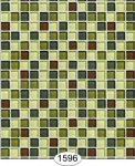 Wallpaper - Mosaic Glass Tile - Green